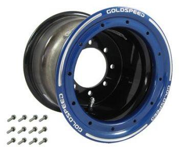 GS: 8X8 4/110/115 3+5 B BEAD LOCK ZWART - BLAUW RING