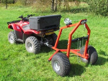 ATV houtblokken trekker met handmatige lier kit